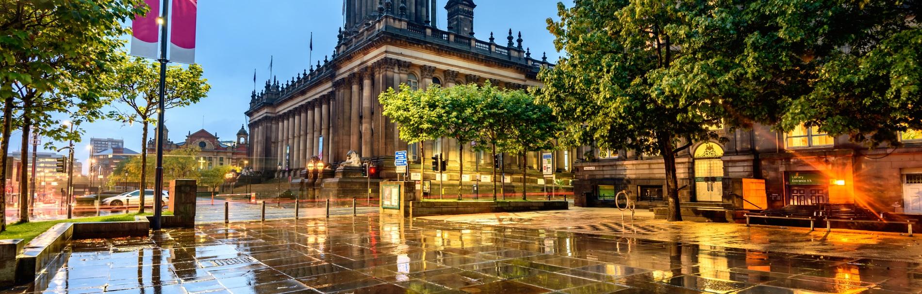 Leeds city breaks header