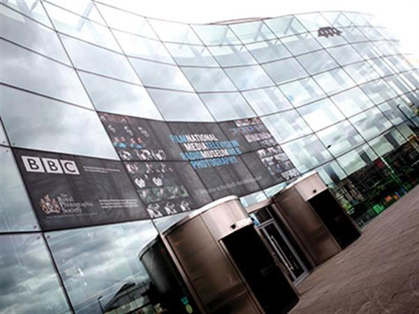 An image of the outside of the National media museum in Bradford