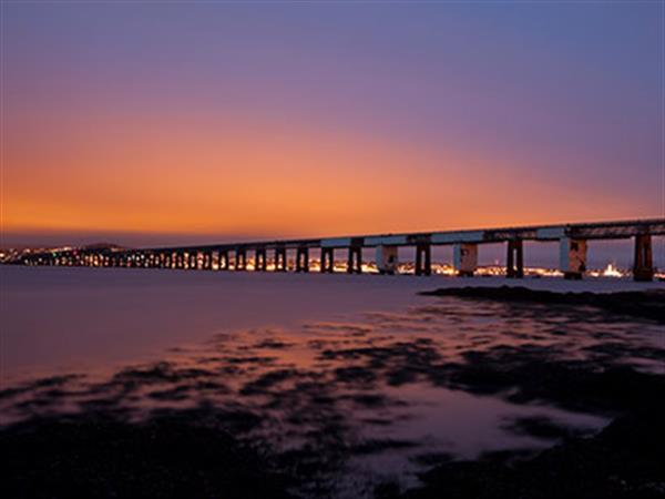 Beatiful sunset image over Dundee beach
