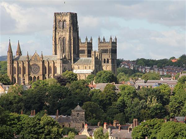Durham cathedral in the distant skyline