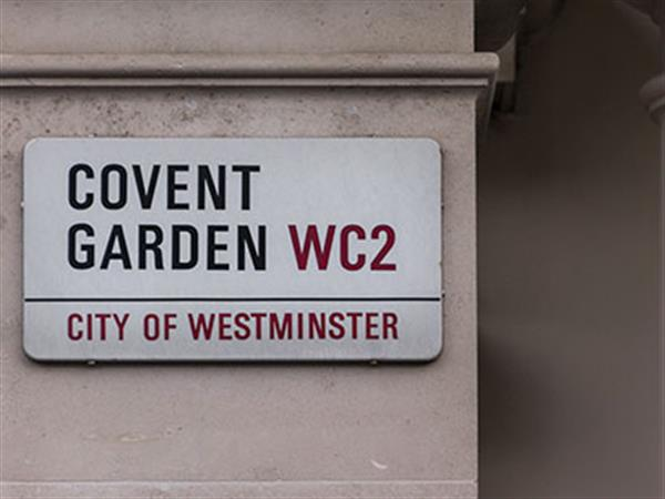 Covent Garden street sign in London