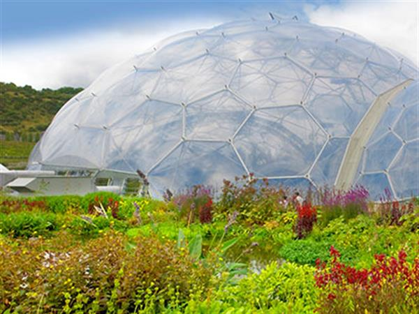 A dome at the Eden project in Cornwall
