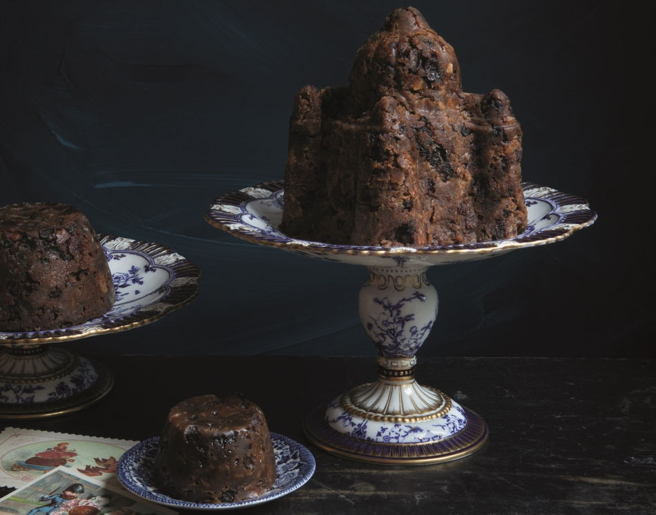 castle shape christmas pudding