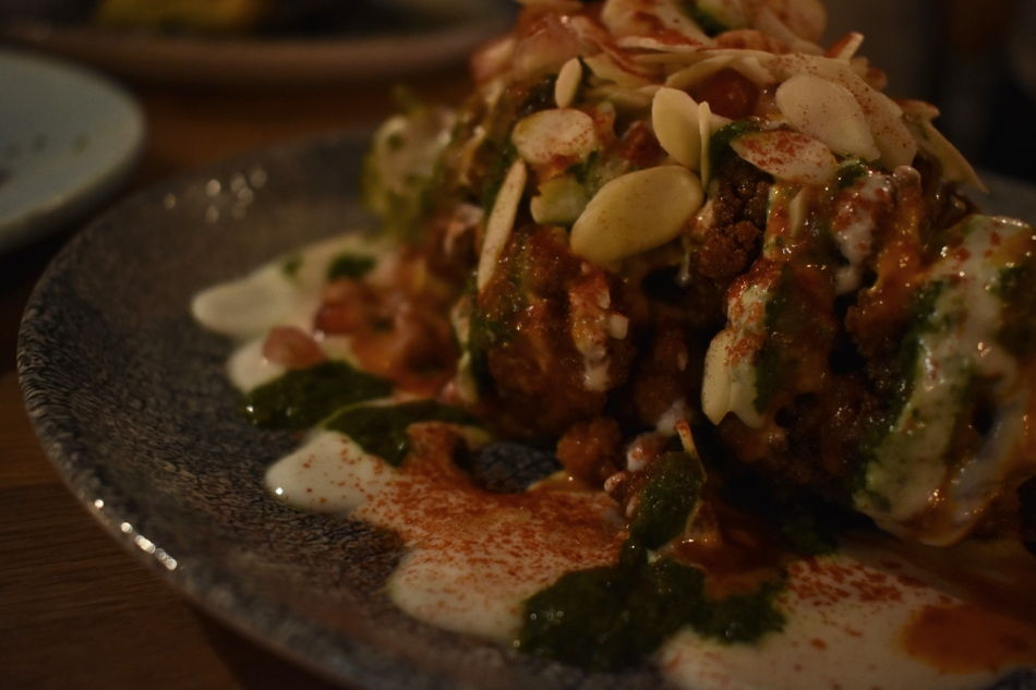 MARAY Roast half cauliflower almonds pesto Maray Liverpool Bold Street restaurant