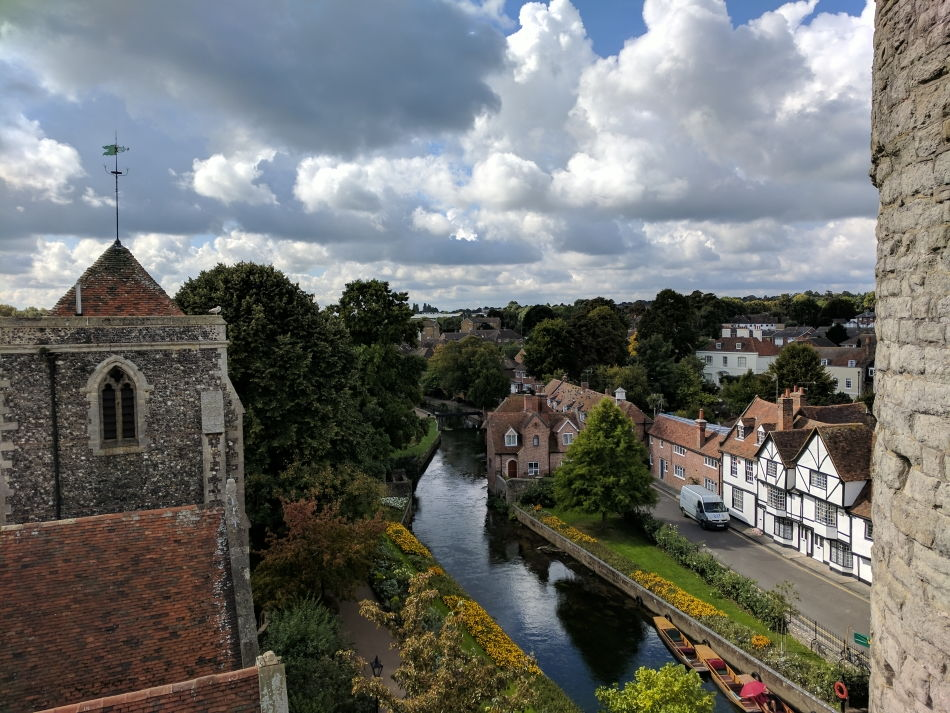 View of the River Stour from Westgate Tower